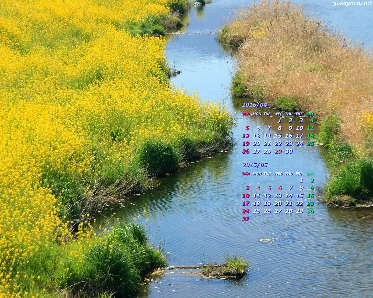 カレンダー 4月のカレンダー 2015 : 2015年4月カレンダー壁紙