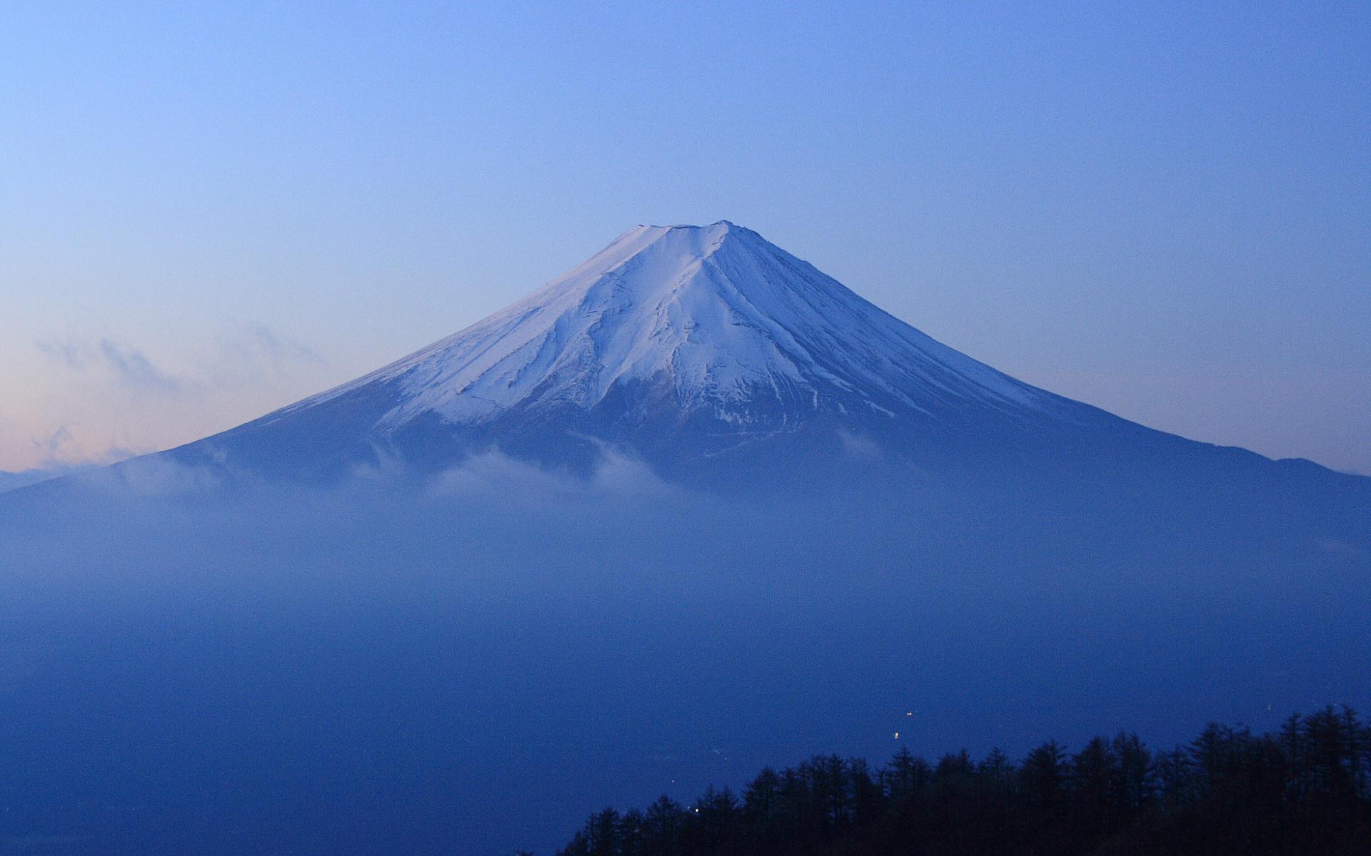 富士山の壁紙 写真素材 三ツ峠山から見た富士山