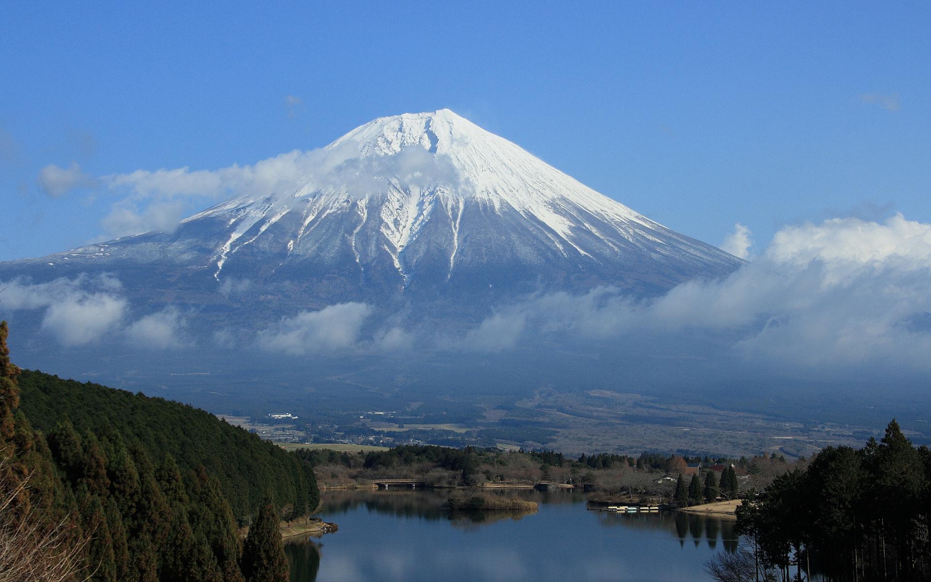 富士山の壁紙 写真素材 田貫湖から見た富士山